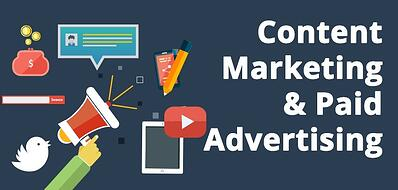 content marketing and paid advertising