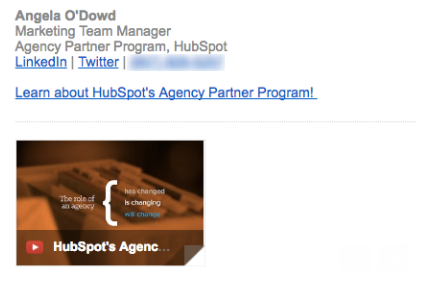 Add a video to your email signature