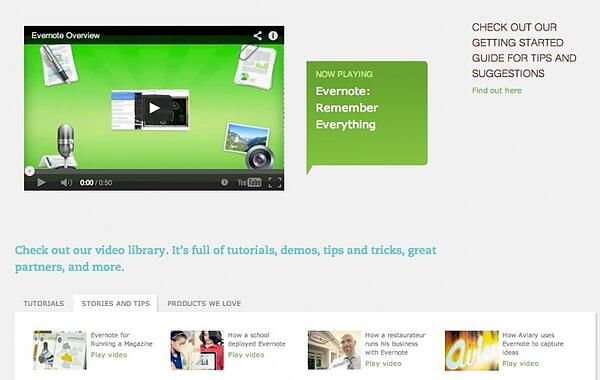 Here's how Evernote uses video in their visual content marketing.