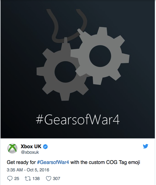 GearsOfWar4 gets a leg up on Twitter by gamers