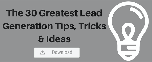 lead generation tips, tricks, ideas
